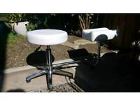 Pedicure Gas Lift Stool and Leg Rest