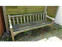 Solid wood bench, perfect for renovation project
