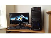 High Spec Fast Gaming PC Quad Core Microsoft Windows10 8GB RAM 1TB Hard Drive