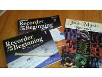 Books of sheet music for recorder