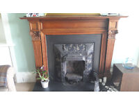 Large Solid Oak Mantelpiece