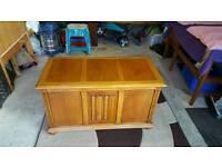 Light oak chest