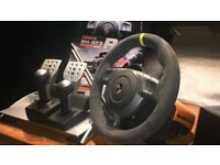 Fanatec Porsche GT3 RS V2 steering wheel and clubsport pedals, for pc, PS3, ps4 Xbox etc