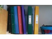 Save on school supplies: 6 binders, 2 hole punch, 3 clear folders - Great for organizing notes