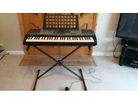 Yamaha PSR 225-GM keyboard and stand