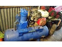 verry big broomwade petrol monster compressor honda engine 13hp