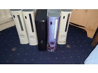 Xbox 360 Consoles Job Lot Of 5 Consoles Includes Xbox 360 Slim