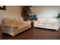 Two sofas in Excellent Condition Real Leather DFS