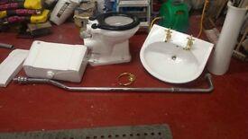 High ceramic toilet