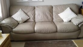 3 seater settee and chair.