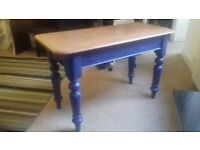 "1900 Solid pine Parlour/Serving Table - size is 4ft x 21"" x 30"" High"