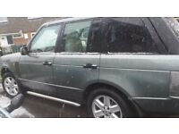 3 litre range rover vouge automatic. .leather interior all electric. .full valet .upgraded wheels