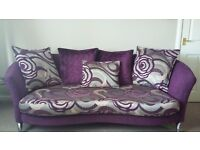 4 seater couch and 2 seater love seat with matching footstool