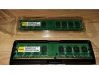 PC RAM 2GB 2Rx8 PC2-6400U x 2 Modules (4GB in total)
