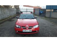 Nissan Almera 1.5 Pulse 3dr Flame Red 2003 Full year M.O.T. not gti pulsar