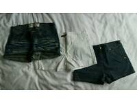 3 x Ladies shorts Size 8