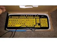 Large letter keyboard