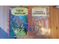 Swedish Tintin Books 'Hos Gerillian' &'Faraors Cigarrer' RH10