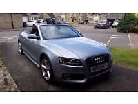 2009 (59) Audi A5 Convertible 2.0 TFSI S line (211 bhp) 12 months MOT! Now reduced to £8500!!