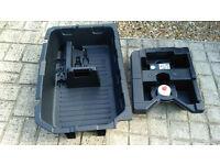 Nissan Juke wheel storage trays and inflator/gunk