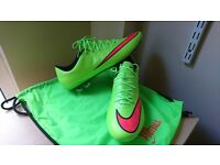 nike mercurial vapor x electric green uk 10.5 - usa 11.5 - 45,5