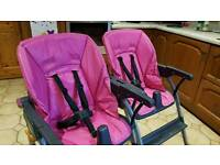 Two Pink Chicco Highchairs