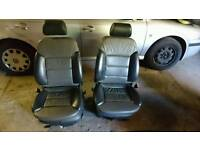 Audi A6 allroad 2 front leather seats