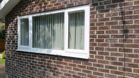 Large UPVC White Window 2400 x 1060 mm