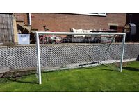 8 ft by 4ft goal £40 well made aluminium and steel mark harrod