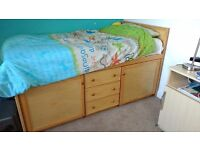 Solid Child's Cabin Bed in Solid Natural Ash ( originally from Chester's Children's Bed Centre CBC)