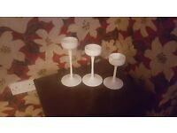 White candle holders for sale!