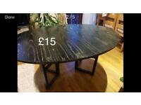 Black dining table perfect for Xmas