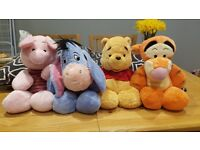 Official Disney Winnie The Pooh & FRIENDS Medium Soft Toys - Excellent Condition