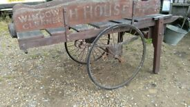 Antique window cleaners barrow / trolley / cart lovely unrestored condition very rare prop shop
