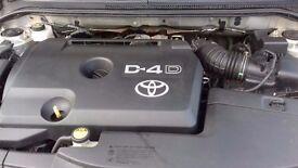 Silver Toyota Avensis 2.0 D4D. 5 Door Hatchback