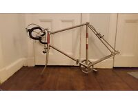 Classic 1980 Raleigh Road Bike Frame with Parts