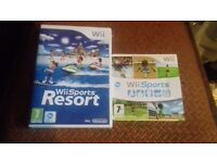 2 WII GAMES FOR SALE / WILL SELL TOGETHER OR WILL SPLIT