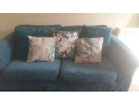 HOME Tessa Fabric Sofa Bed and Regular Sofa - Teal.