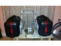 Non Fango motorcycle panniers and rack with all fittings motorbike luggage