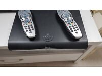 Sky+ HD box with two remotes