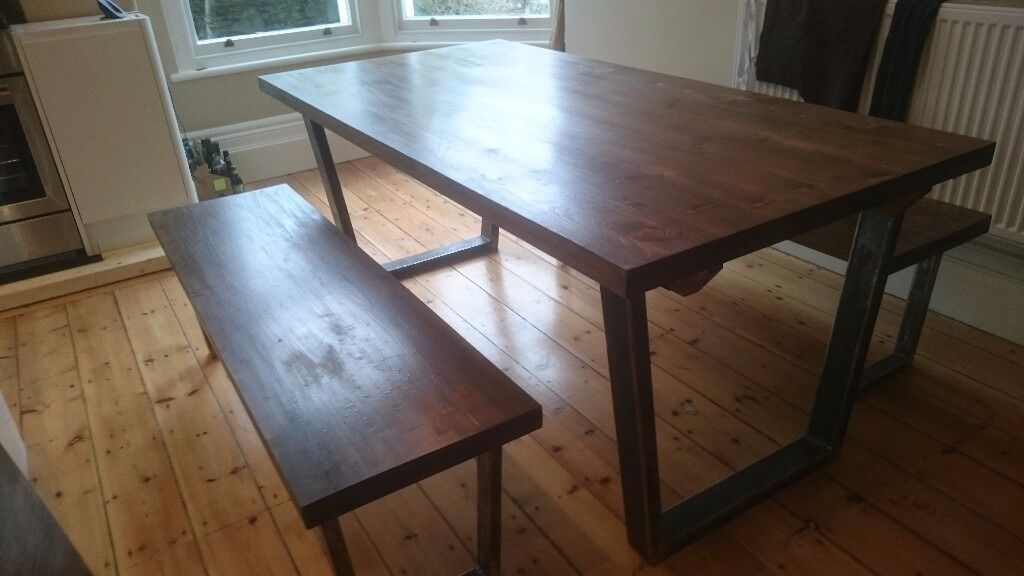 John Lewis Calia Style Extending Dining Table And Benches