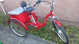 Jorvik 24'' Vintage Dutch Style Electric Bike Adults Tricycle 36V 10Ah £1400 New Disabled Trike