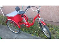 Jorvik 24'' Vintage Dutch Style Electric Bike Adults Tricycle 36V 10Ah £1400 New Disabled Trike