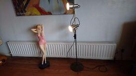 VINTAGE 1970S TWIN SPOT LIGHT DESIGNER ADJUSTABLE STANDARD LAMP GWO FAB MODERN HOME DECOR DISPLAY