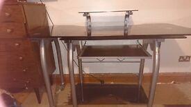 GONE. Large black glass desk free. East Kilbride