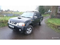03 Nissan Navara Outlaw 2Cab 4WD Pickup 2.4dti lady Owner. £2395 or £+ sheep or flat bed trailer exc