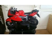 BMW ride on boys electric red motorcycle bike with 2 keys