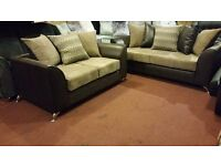 MILO HAND MADE 3+2 FABRIC SOFA IN HIGH QUALITY SPRING BASE AND FIRM FOAM SEATS BRAND NEW £375