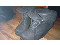 Size 5 high wedge boots