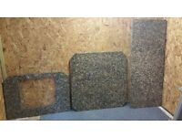Three peices of beautiful polished granite worktop / hearth